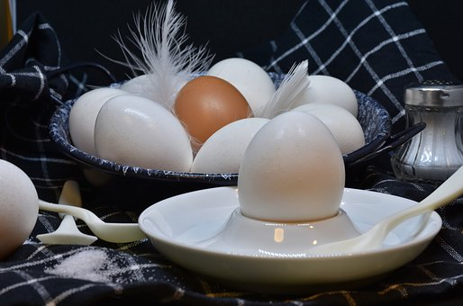various fresh egg varieties in a bowl